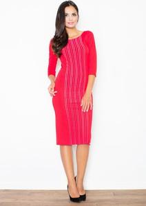 Sukienka Figl midi ołówkowa z długim rękawem