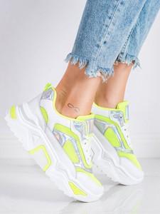 Buty sportowe Czasnabuty na platformie sznurowane z zamszu