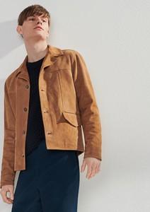 Pomarańczowa kurtka Reserved z zamszu