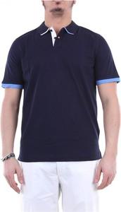 Niebieska koszulka polo Heritage z krótkim rękawem
