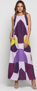 Sukienka Lavard bez rękawów z okrągłym dekoltem