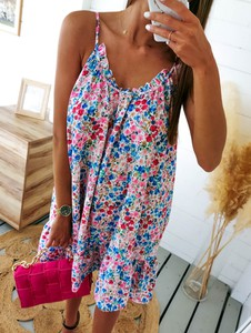Sukienka Perfe mini na ramiączkach