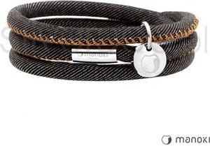 Silverado bransoletka z czarnego jeansu z pomarańczowymi przeszyciami 77-ba447jbp