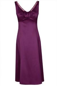 Sukienka Fokus z satyny mini bez rękawów