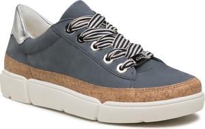 Buty sportowe ara ze skóry ekologicznej sznurowane