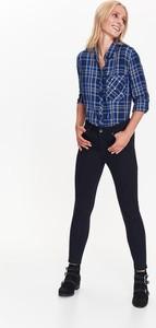 Granatowe jeansy Top Secret w stylu casual