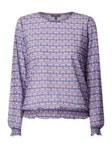 Fioletowa bluzka Montego z okrągłym dekoltem z długim rękawem