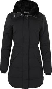 Czarny płaszcz Naf naf