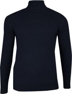 Granatowy sweter Brave Soul z bawełny