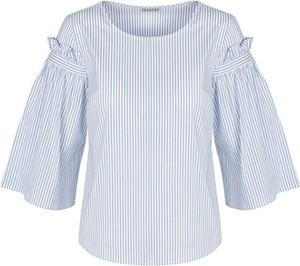 Niebieska bluzka TOVA z okrągłym dekoltem