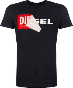 T-shirt Diesel w młodzieżowym stylu z bawełny