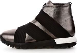 Srebrne buty sportowe prima moda