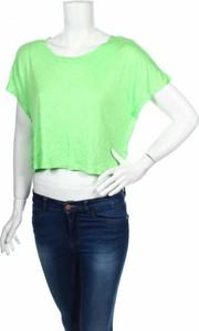 Zielona bluzka Exist z okrągłym dekoltem z krótkim rękawem