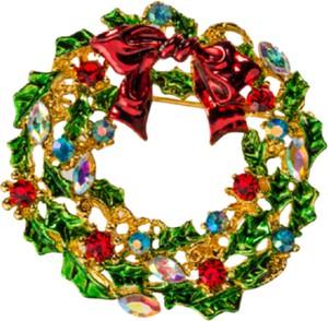 Noël Broszka wieniec bożonarodzeniowy