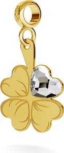 GIORRE SREBRNY CHARMS BEADS ZAWIESZKA KONICZYNA SERCE SWAROVSKI 925 : Kolor pokrycia srebra - Pokrycie Żółtym 24K Złotem, Wariant - Beads