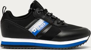 Czarne buty sportowe Big Star ze skóry ekologicznej na platformie