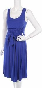 Niebieska sukienka Agnes na ramiączkach