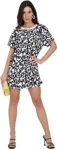 Sukienka Moschino mini z okrągłym dekoltem