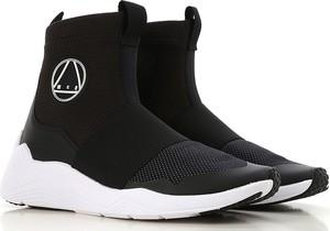 Czarne buty sportowe McQ na koturnie
