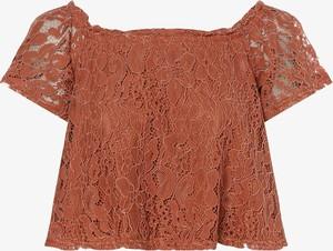 Pomarańczowa bluzka NA-KD z krótkim rękawem