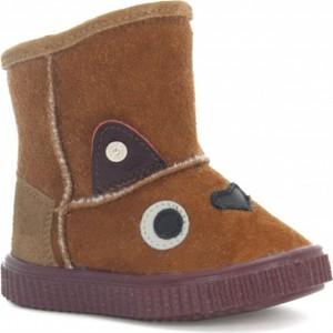 Brązowe buty dziecięce zimowe Wojas