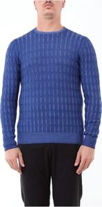 Niebieski sweter Barba z tkaniny w stylu casual