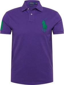 Fioletowa koszulka polo POLO RALPH LAUREN z bawełny