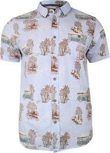 Granatowa koszula Brave Soul z krótkim rękawem