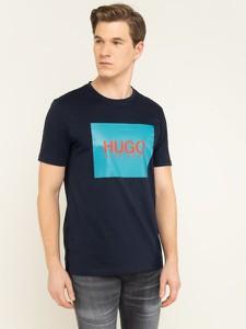 Granatowy t-shirt Hugo Boss