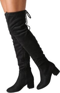Czarne kozaki Casu za kolano