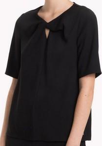 Czarna bluzka Tommy Hilfiger z żakardu
