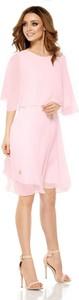 Sukienka Lemoniade z szyfonu z okrągłym dekoltem mini