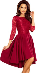 Sukienka NUMOCO asymetryczna mini z okrągłym dekoltem