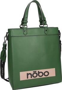 Zielona torebka NOBO ze skóry ekologicznej na ramię matowa