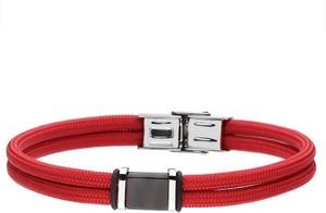 BA783C czerwona-czarna męska bransoletka MANOKI DESIGN