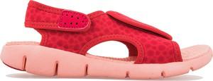 Czerwone buty dziecięce letnie Nike na rzepy