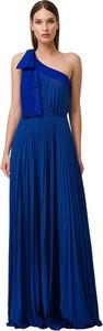Niebieska sukienka Elisabetta Franchi maxi