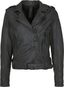 Brązowa kurtka Gipsy w rockowym stylu krótka
