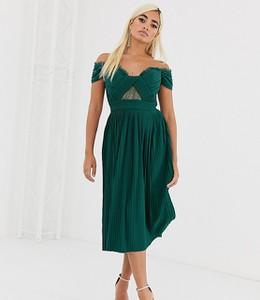 Zielona sukienka Asos z krótkim rękawem