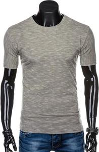 Brązowy t-shirt Edoti z długim rękawem