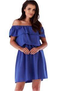 Niebieska sukienka Awama mini