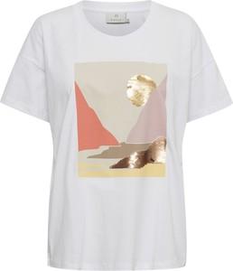 T-shirt Kaffe z okrągłym dekoltem z krótkim rękawem z nadrukiem