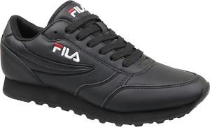 Granatowe buty sportowe Fila ze skóry