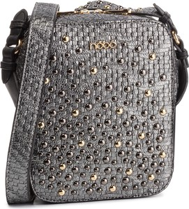 Srebrna torebka NOBO w młodzieżowym stylu na ramię średnia