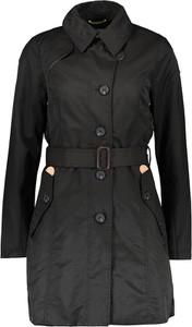 Czarny płaszcz khujo w stylu casual