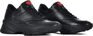 Buty sportowe Swiat Obuwia ze skóry sznurowane