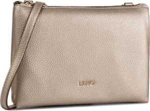 Złota torebka Liu-Jo matowa średnia na ramię