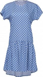 Niebieska sukienka Look made with love mini z krótkim rękawem z bawełny