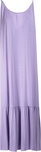 Fioletowa sukienka Multu z dekoltem w kształcie litery v maxi na ramiączkach