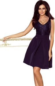 Sukienka Ptakmoda.com z dekoltem w kształcie litery v na ramiączkach mini